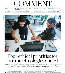 New commentary on neuroethics published in Nature